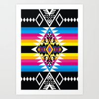 Big Diamond CMYK Art Print