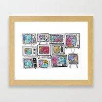 Colour Tv Framed Art Print