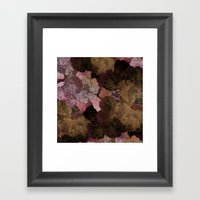 FLORAL PINKS Framed Art Print