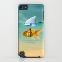 iPod Touch Cases featuring gold fish by mark ashkenazi