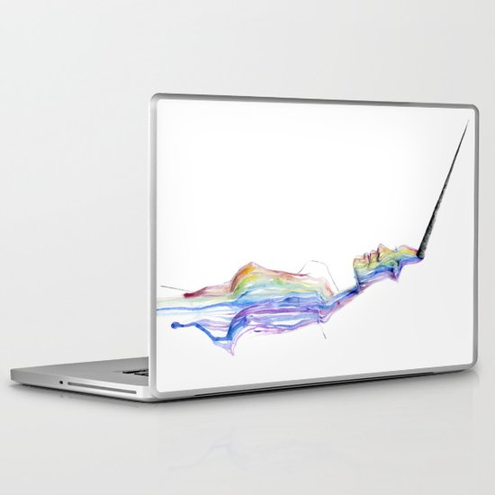 unicorn girl Laptop & iPad Skin