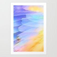 Texture plumage Art Print