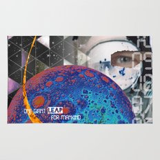 Giant Leap collage Rug