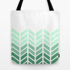 OMBRE LACE CHEVRON Tote Bag