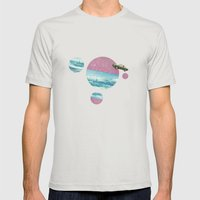 Bon voyage Mens Fitted Tee Silver SMALL