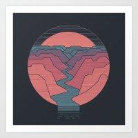 Canyon River Art Print