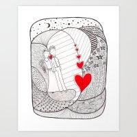Enamorados En El Sueño … Art Print