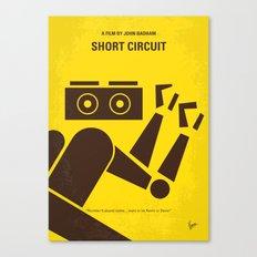 No470 My Short Circuit minimal movie poster Canvas Print