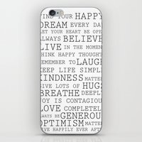 Positive Thoughts  iPhone & iPod Skin