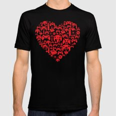 Gaming Love Black Mens Fitted Tee SMALL