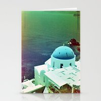 Blue Dome Church, Santor… Stationery Cards
