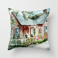 German Village House In … Throw Pillow