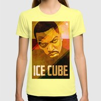 Ice Cube Womens Fitted Tee Lemon SMALL