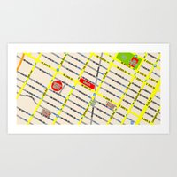 New York Map Design - Em… Art Print