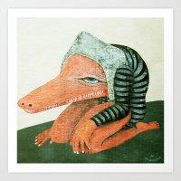 Crococo Art Print