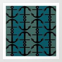 Ocean Anchors Art Print