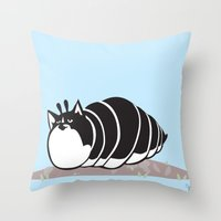 Kittypillar Throw Pillow
