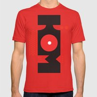 King of the Mountains, Abstract 1 Mens Fitted Tee Red SMALL