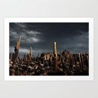 Cactus In Incahuasi Isla… Art Print