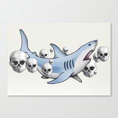 Shark & Skulls Canvas Print
