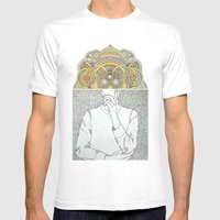 Thought Bubble Mens Fitted Tee White SMALL