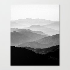 Mountain Mist - Black and White Collection Canvas Print