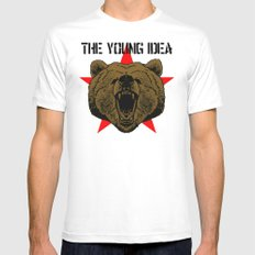 The Young Idea - Grizzly Logo White Mens Fitted Tee SMALL