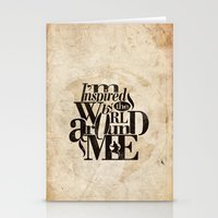 I'm Inspired By The Worl… Stationery Cards