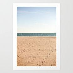 Sand, sea, sky Art Print