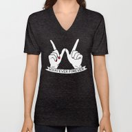 Unisex V-Neck featuring WHATEVER FOREVER by Sara M Lyons