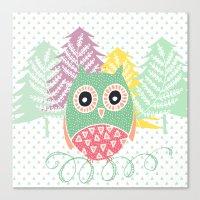Pattern owl Canvas Print