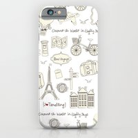 iPhone & iPod Case featuring I {❤} Travel by lilycious
