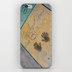 Marilyn Hand Prints in Hollywood iPhone & iPod Skin