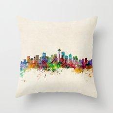 Seattle Washington Skyli… Throw Pillow