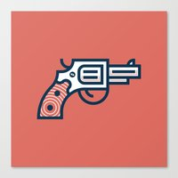 Thus Always to Tyrants: Gunsmoke Edition Canvas Print