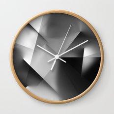 Monochromatic Cubism Wall Clock