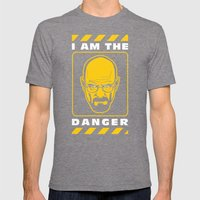 I am the Danger Mens Fitted Tee Tri-Grey SMALL