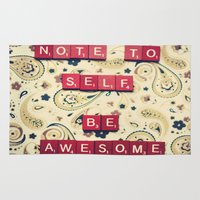Note to Self Rug