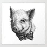 BowTie Piglet G136 Art Print