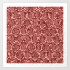 Art deco pattern Art Print
