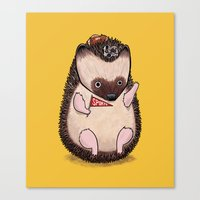 Sports Hedgehog Canvas Print