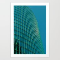 Teal Blue Abstract Art Print