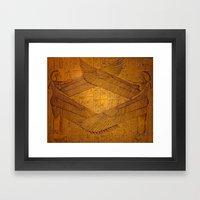 Egpytian Winged Godessess Framed Art Print