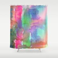 Rainbow Waterfall Shower Curtain