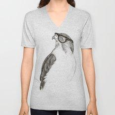 Hawk with Poor Eyesight Unisex V-Neck