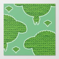 Wooly Sheep - 2 Canvas Print