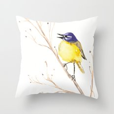 Yellow Wagtail Throw Pillow