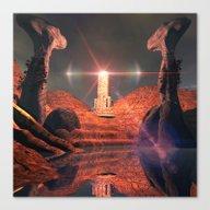 Mystical Fantasy World Canvas Print