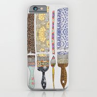 floral iPhone & iPod Cases featuring color your life by Bianca Green