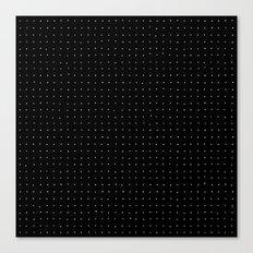 Swiss Dot - Black Canvas Print